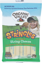 Organic Stringles String Cheese product image.