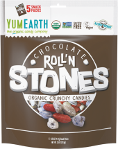 Organic Chocolate Roll'N Stones Candy product image.